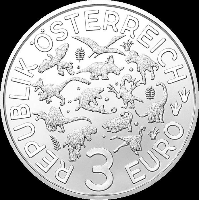 Австрия монета 3 евро, серия Суперзавры