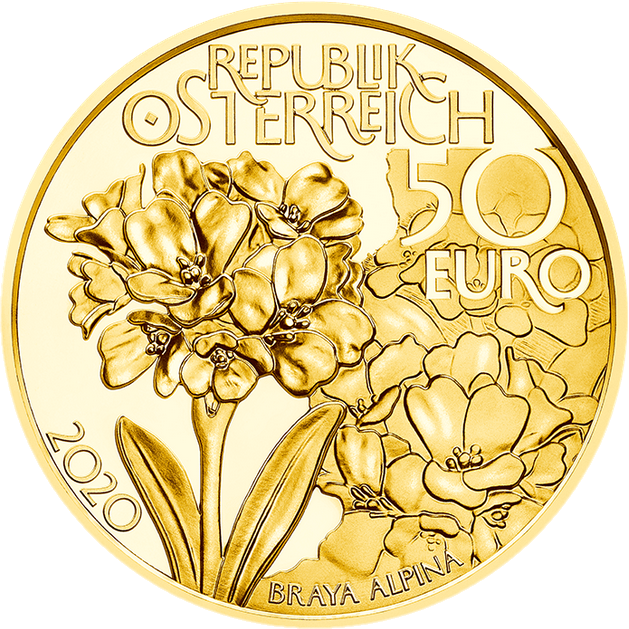 Австрия монета 50 евро Брейя альпийская, аверс