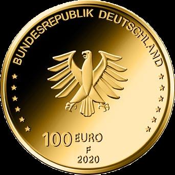 Германия монета 100 евро Церковь Святого Павла, аверс