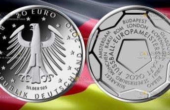Германия монета 20 евро Чемпионат Европы по футболу 2020