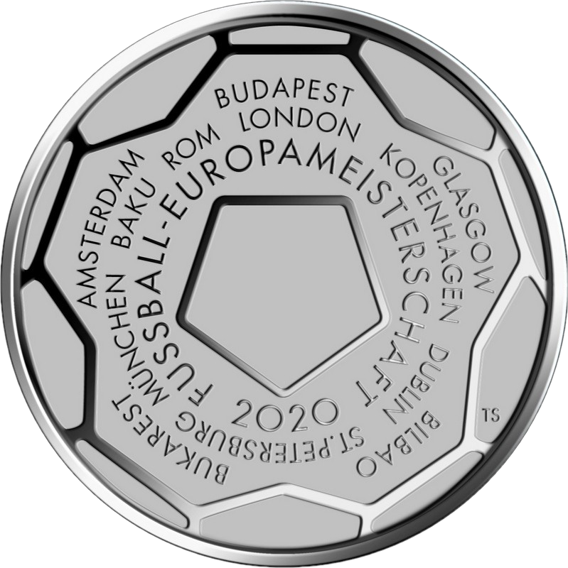 Германия монета 20 евро Чемпионат Европы по футболу 2020, реверс