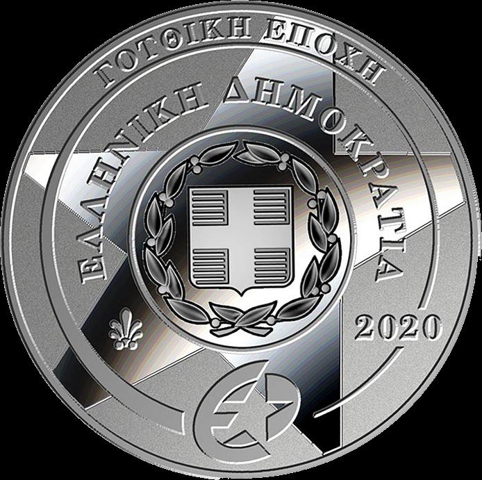 Греция монета 10 евро Готика, аверс