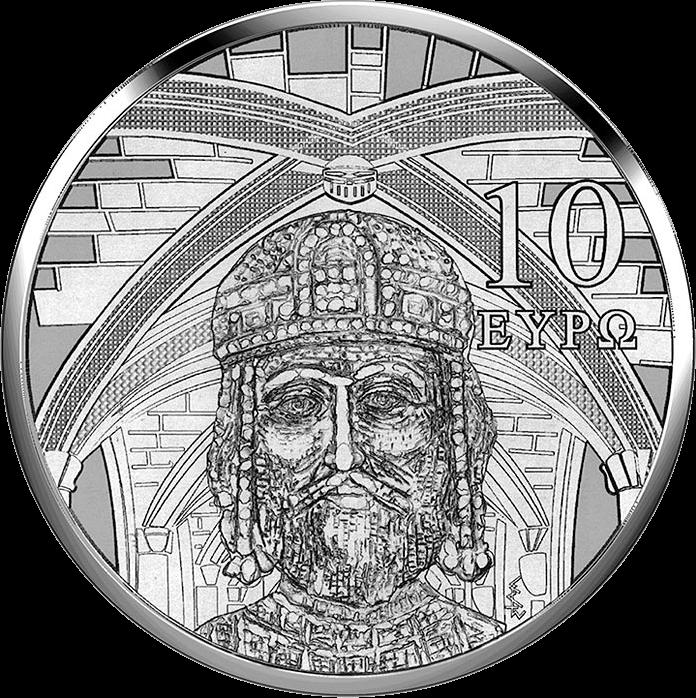 Греция монета 10 евро Готика, реверс