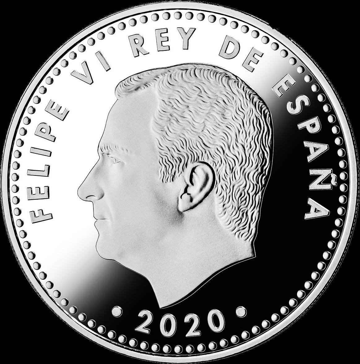 Испания монета 10 евро Чемпионат Европы по футболу 2020, аверс