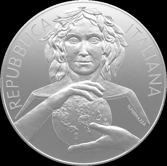 Италия монета 5 евро Международный год охраны растений, аверс