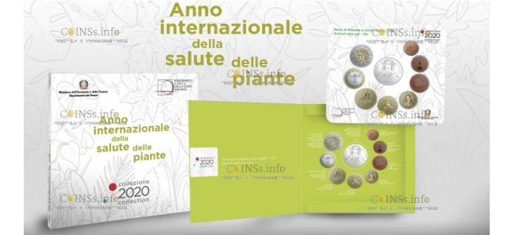 Италия монета 5 евро Международный год охраны растений, подарочная упаковка