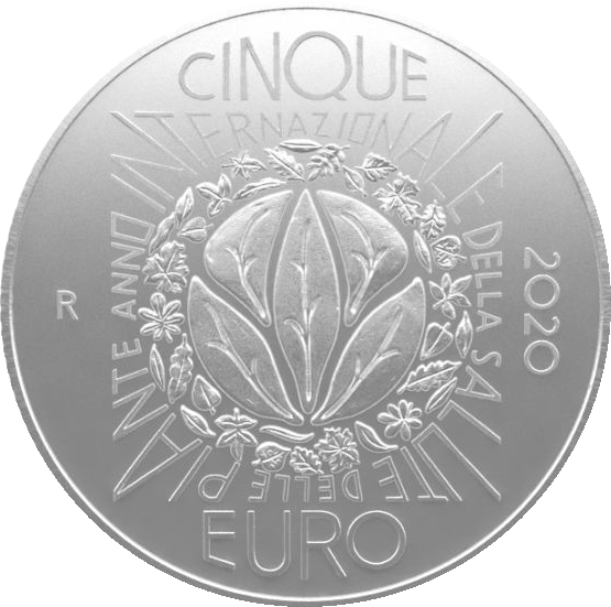 Италия монета 5 евро Международный год охраны растений, реверс