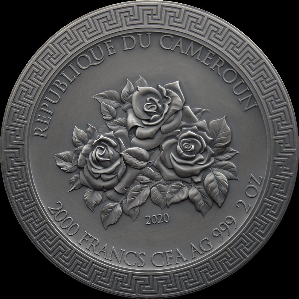 Камерун монета 2000 франков Три грации, аверс