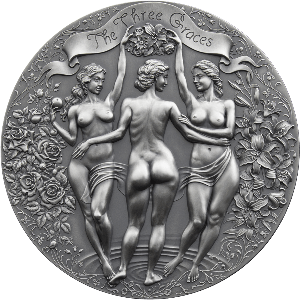 Камерун монета 2000 франков Три грации, реверс