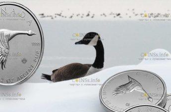 Канада монета 10 долларов Гусь в полете