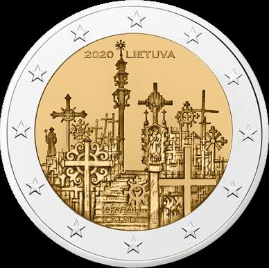Литва монета 2 евро Гора Крестов, реверс