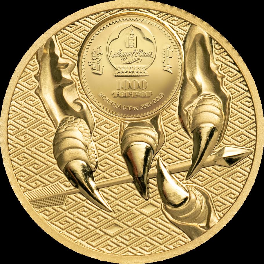 Монголия монета 1 000 тугриков Величественный орел, аверс