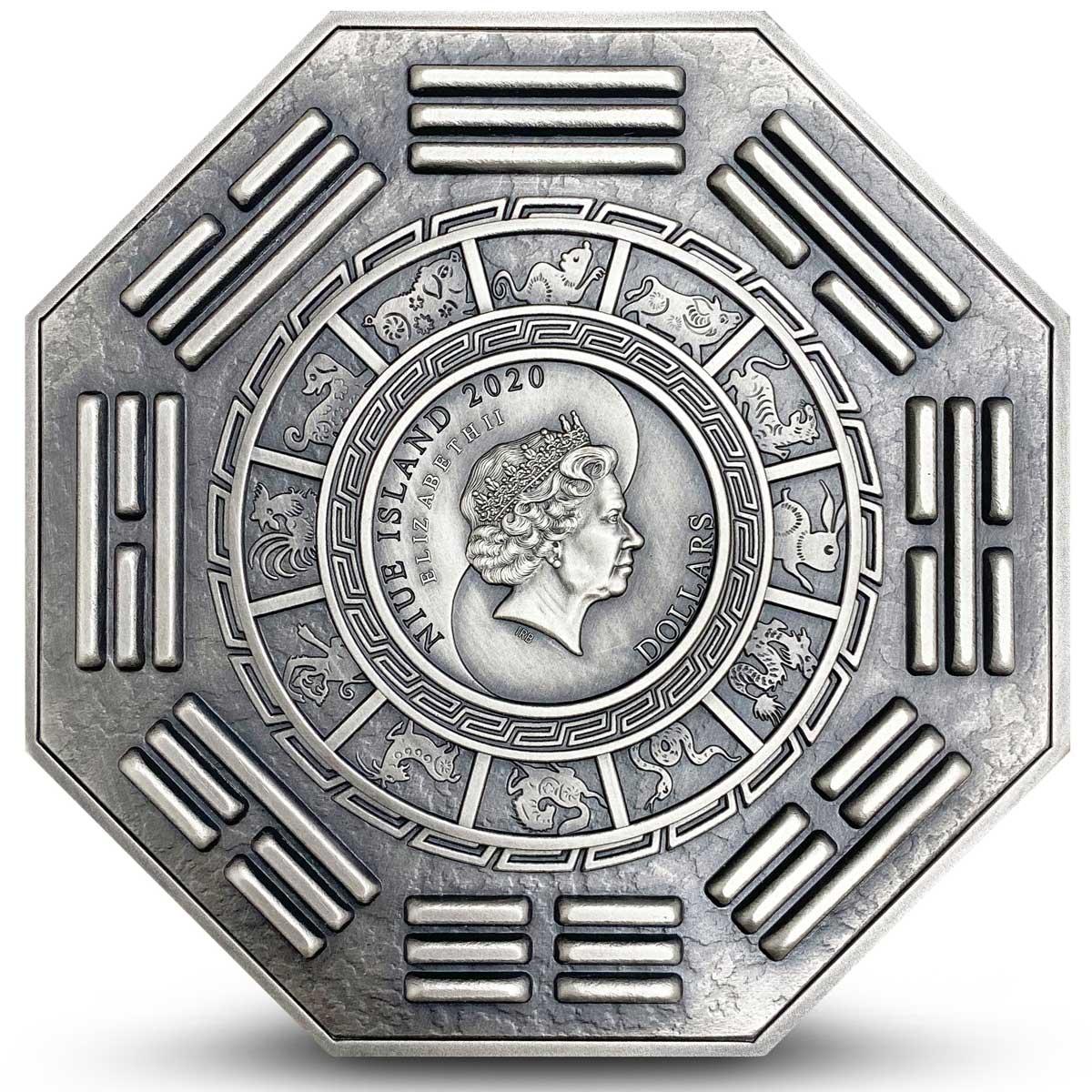 Ниуэ монета 10 долларов Богиня Милосердия, аверс
