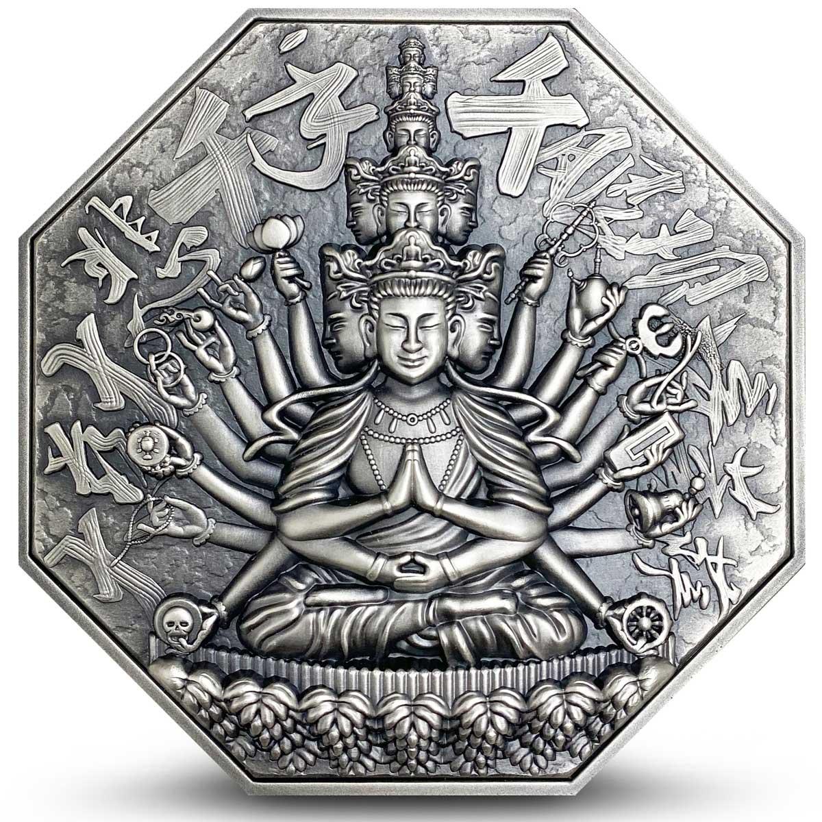 Ниуэ монета 10 долларов Богиня Милосердия, реверс
