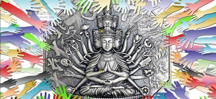 Ниуэ монета 10 долларов Богиня Милосердия