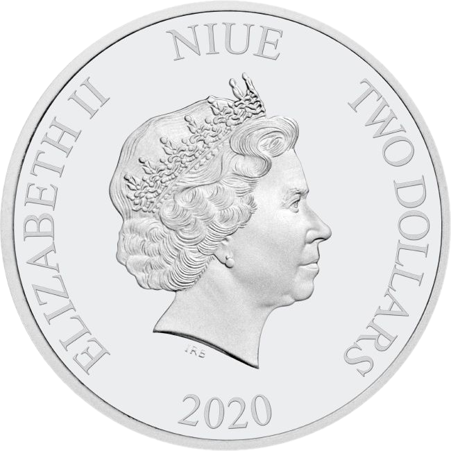 Ниуэ монета 2 доллара 2020, аверс
