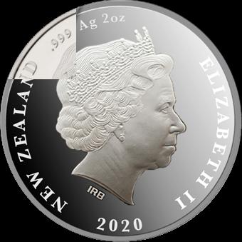 Новая Зеландия монета 5 долларов 2020 год, аверс
