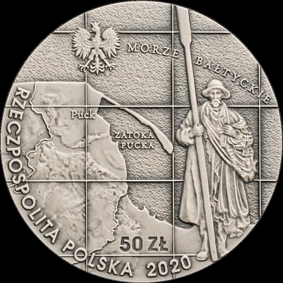 Польша монета 50 злотых 100 лет со дня «обручения» с Балтийским морем, аверс