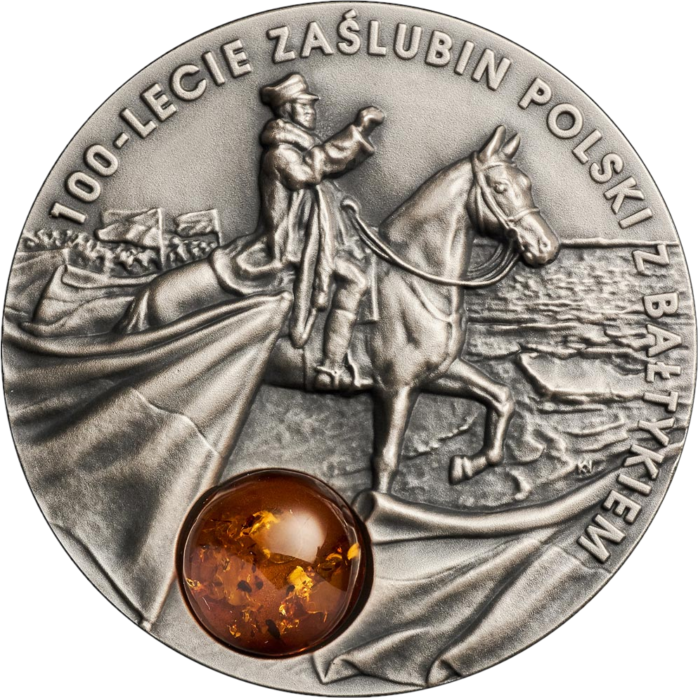 Польша монета 50 злотых 100 лет со дня «обручения» с Балтийским морем, реверс