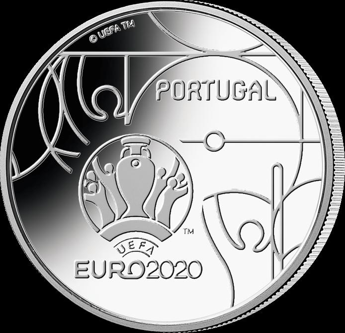Португалия монета к Чемпионату Европы по футболу 2020, аверс