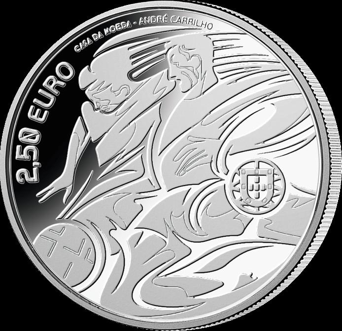 Португалия монета к Чемпионату Европы по футболу 2020, реверс