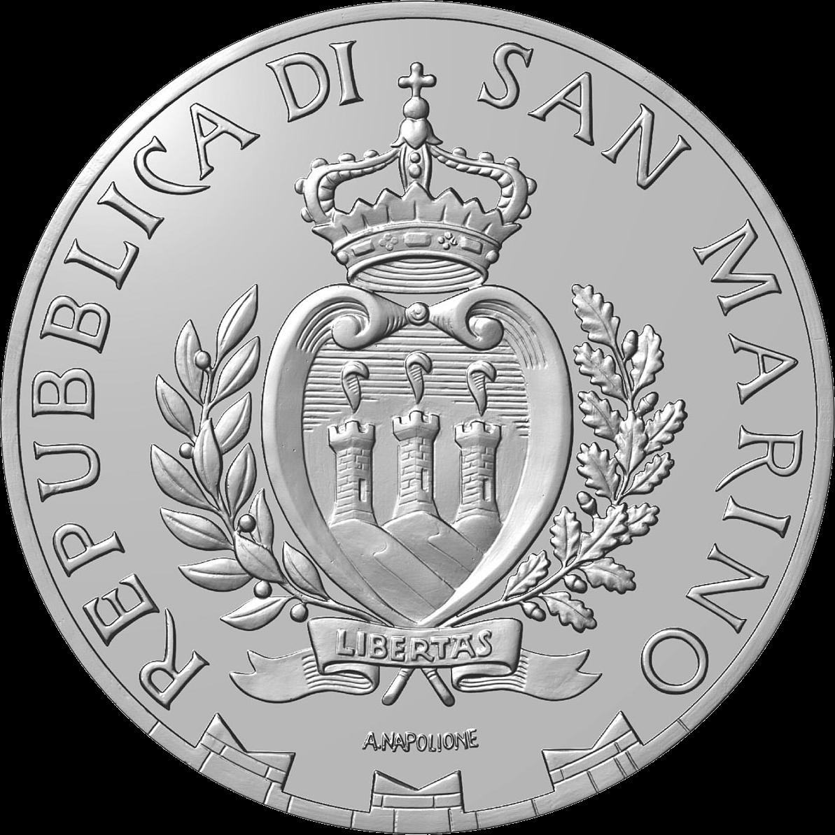 Сан-Марино монета 10 евро 2020 года, аверс