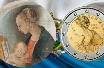 Сан-Марино монета 2 евро Мадонна Рафаэля