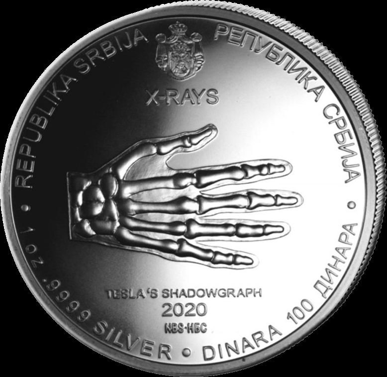 Сербия монета 100 динар Никола Тесла, аверс
