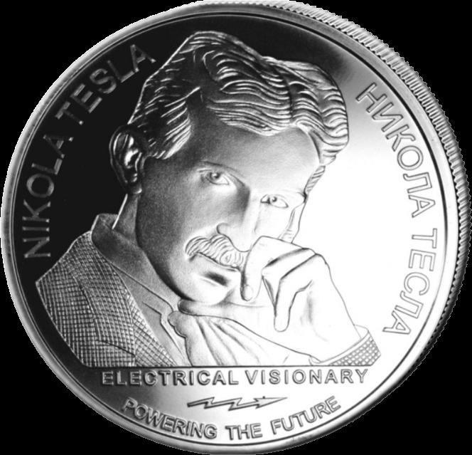 Сербия монета 100 динар Никола Тесла, реверс