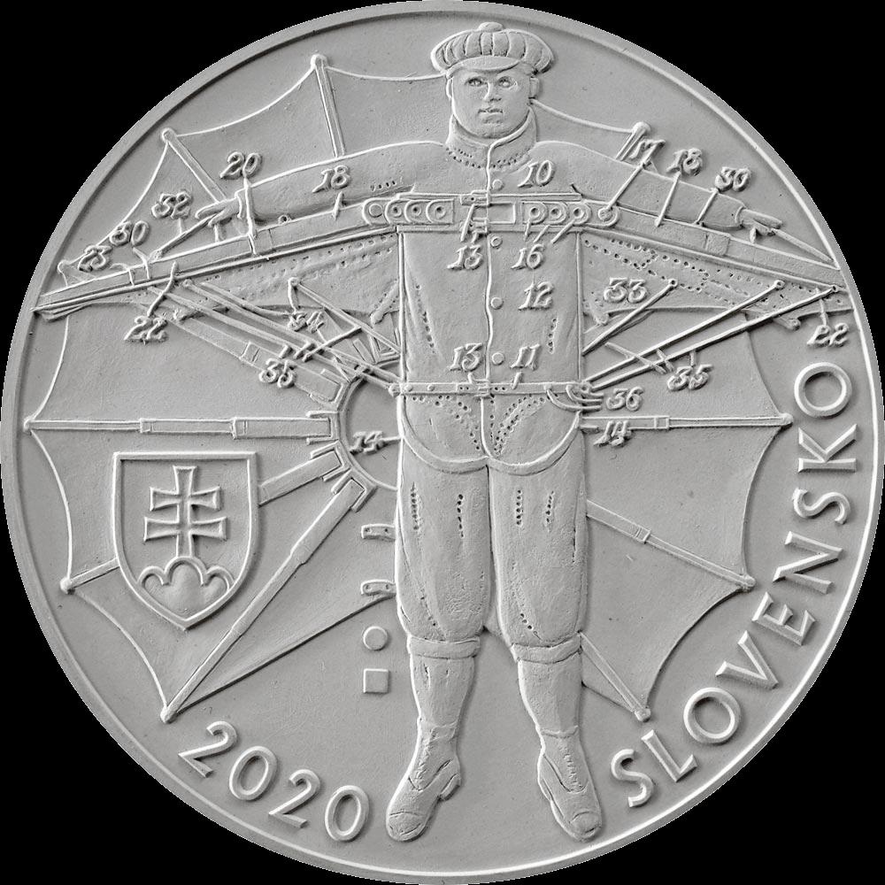 Словакия монета 10 евро Штефан Банич, аверс