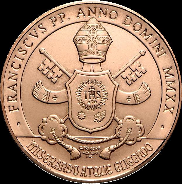 Ватикан монета 10 евро Благочестие, аверс