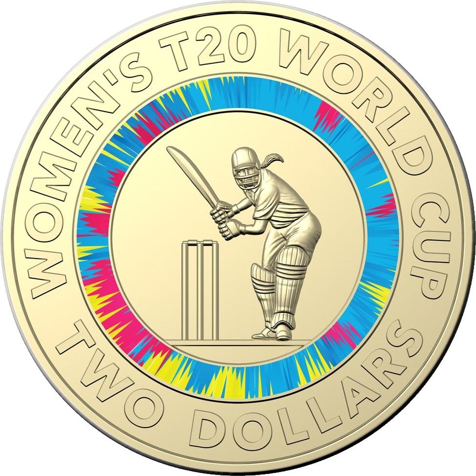 Австралия монета 2 доллара Чемпионат Мира по крикету 2020, реверс
