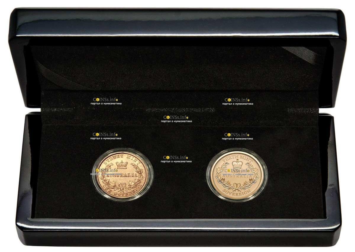 Австралия монета 25 долларов 165 со дня выпуска Первого Соверена, подарочная упаковка