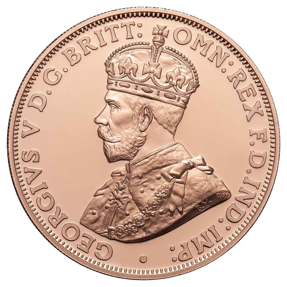 Австралия монета Один пенни 1930 год, аверс