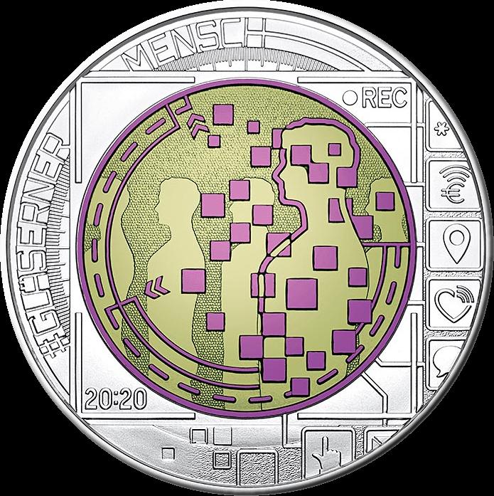 Австрия монета 25 евро За нами следят, реверс