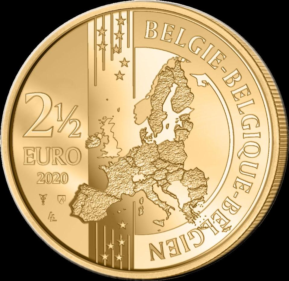 Бельгия монета 2,5 евро 2020 год, аверс