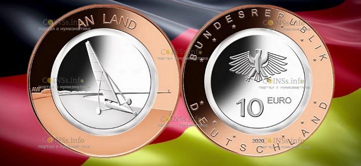 Германия монету 10 евро На суше