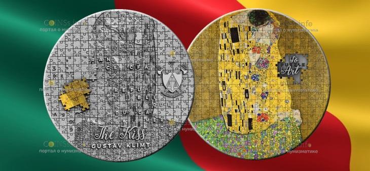 Камерун монета 3000 франков КФА Поцелуй