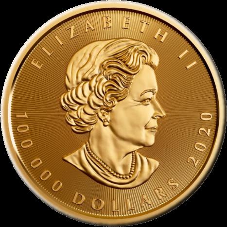 Канада монета 100 000 долларов Кленовый лист, аверс