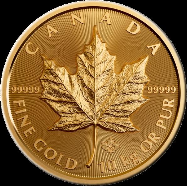 Канада монета 100 000 долларов Кленовый лист, реверс