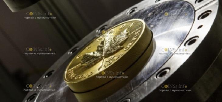 Канада монета 100 000 долларов Кленовый лист