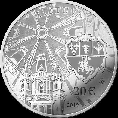 Литва монета 20 евро Сапега дворец, аверс