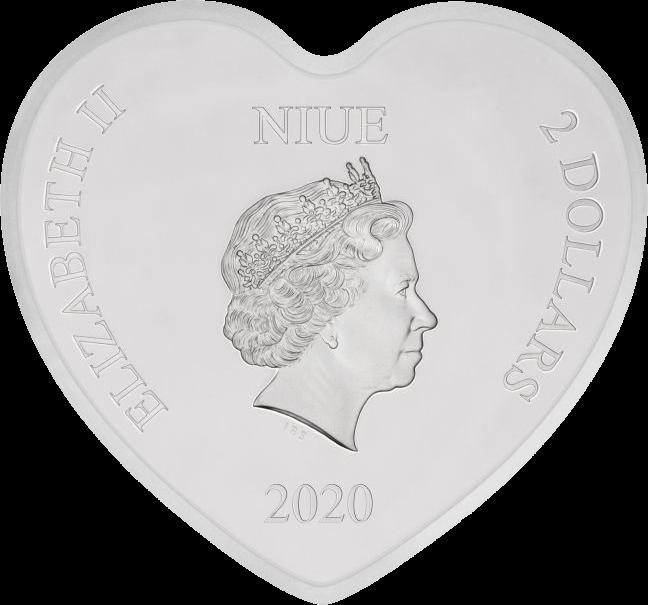 Ниуэ монета 2 доллара 70 лет Золушке, аверс