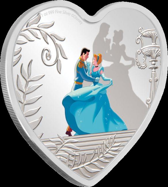 Ниуэ монета 2 доллара 70 лет Золушке, реверс