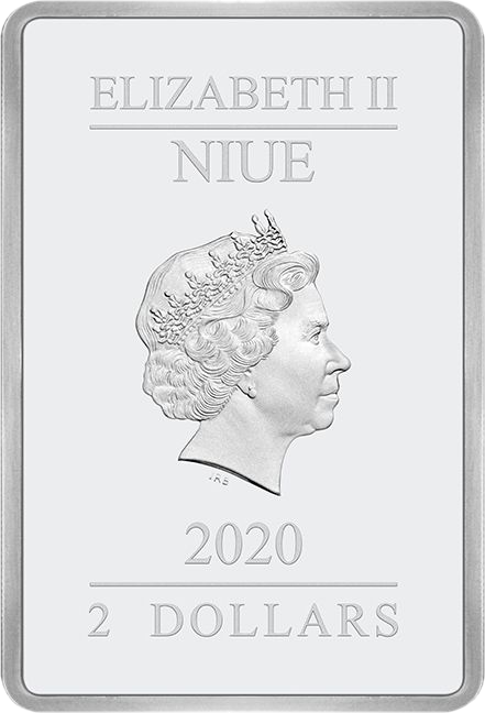 Ниуэ монета 2 доллара Крылатый крестоносец, аверс