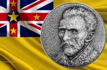 Ниуэ монета 5 долларов Винсент ван Гог