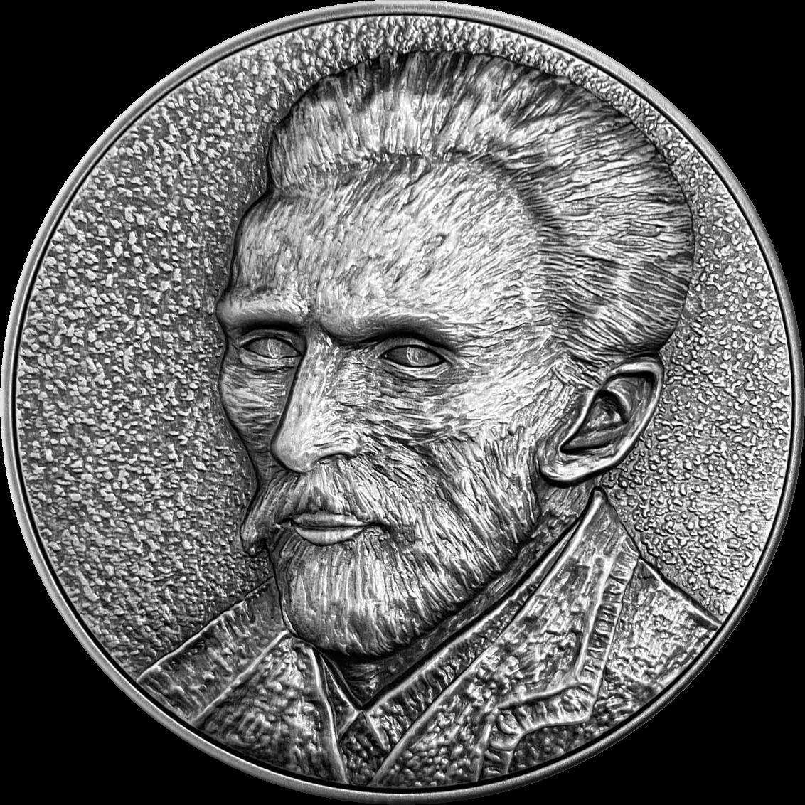 Ниуэ монета 5 долларов Винсент ван Гог, реверс