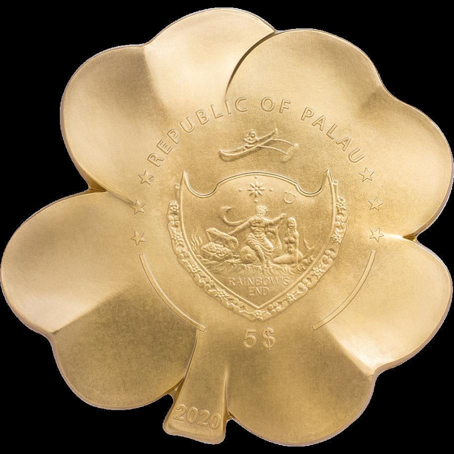 Палау монета 5 долларов Золотая удача, реверс