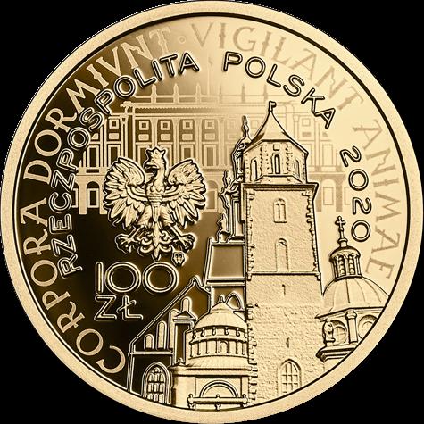 Польша монета 100 злотых Годовщина трагедии под Смоленском, аверс