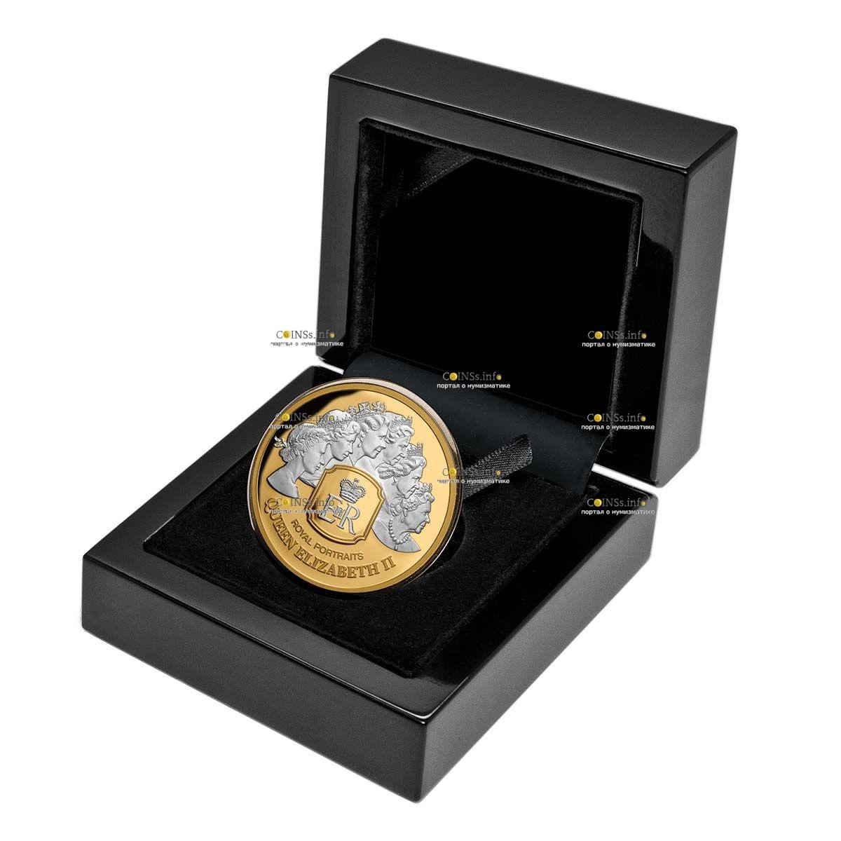 Токелау монета 100 долларов Королевский портрет, подарочная упаковка
